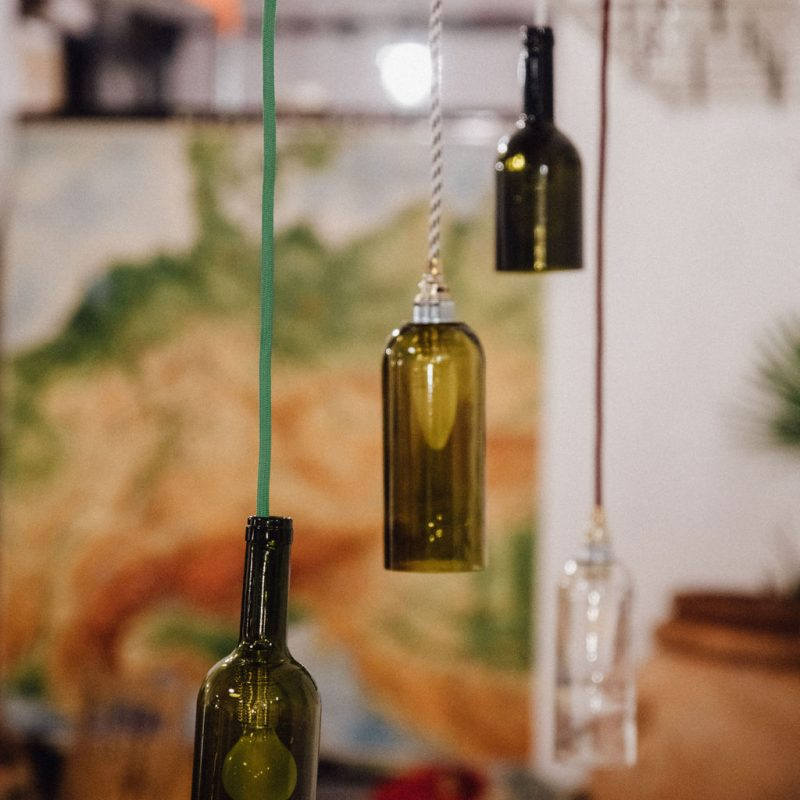 Funktionswechsel Upcycling Lampen aus Weinflaschen
